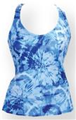 Fit 2 Win Isabelle Blue Swirl Sports Tank