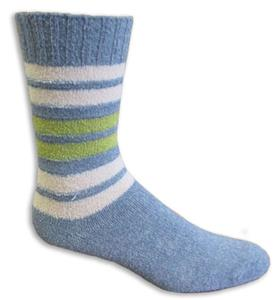 Closeout Denim Blue Striped Fashion Socks PAIR
