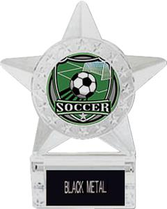 Hasty Awards Soccer Star Trophy with Inserts