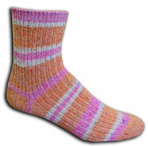 Closeout Orange/Pink Speckle 3/4 Socks PAIR