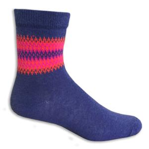 Closeout 3/4 Length Blue/Orange/Pink Socks PAIR