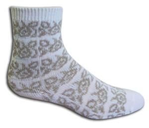 Closeout White/Khaki Fashion/Trouser Socks PAIR