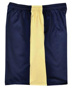 "Fit 2 Win Men's Captain 8"" Navy/Vegas Gold Shorts"