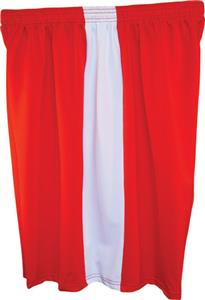 Fit 2 Win Mens Captain 8&quot; Red/White Shorts
