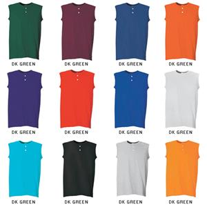 Martin Womens 2 Button Baseball Sleeveless Jerseys