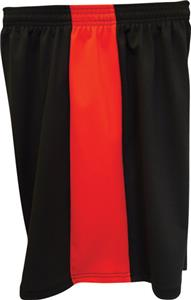 "Fit 2 Win Mens Captain 8"" Black/Red Shorts"