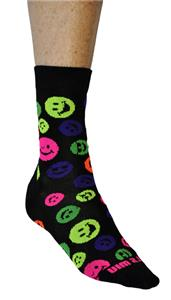 Fit 2 Win Smiley Face Crazy Crew Socks