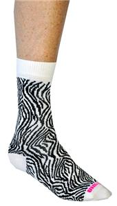 Fit 2 Win Zebra Crazy Crew Socks