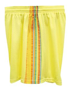 Fit 2 Win Savannah Tricot Mesh 5&quot; Yellow Shorts