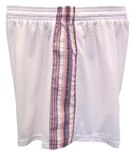 "Fit 2 Win Savannah Tricot Mesh 5"" White Shorts"