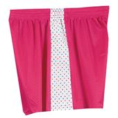 Fit 2 Win Daisy Polka Dot Pink Mesh Shorts