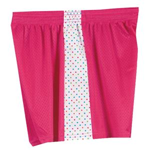 Fit2Win Daisy Polka Dot Pink Mesh Shorts