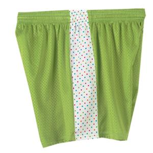 Fit2Win Daisy Polka Dot Lime Mesh Shorts
