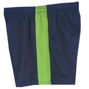 Fit2Win Daisy Polka Dot Navy Lime Mesh Shorts