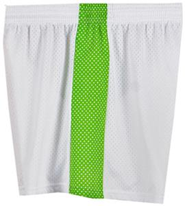 Fit 2 Win Daisy Polka Dot White Lime Mesh Shorts