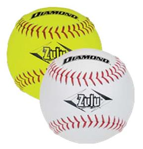 Diamond Zulu Slowpitch - Red Stitch Softballs
