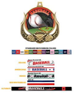 Baseball Ultimate 3-D Medal M-727C
