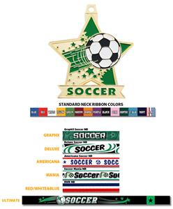 "Hasty Awards 2.5"" Star Soccer Medal M-715S"
