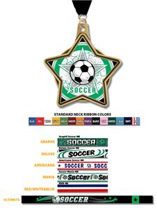 "Hasty Awards 2.25"" All-Star Insert Soccer Medals"