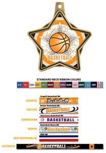 All-Star Insert Basketball Medals M-5501B
