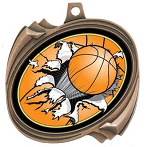 Basketball Bust-Out Insert Medals M-2201B