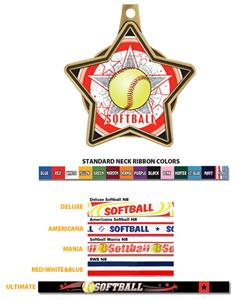 Hasty Awards All-Star Insert Softball Medals 