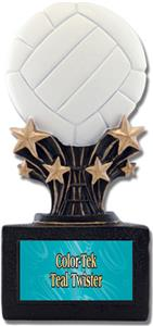 "Shooting Star 6"" Volleyball Resin Trophies"