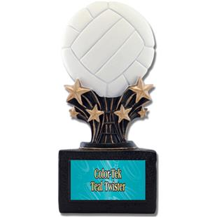 """Shooting Star 6"""" Volleyball Resin Trophies"""