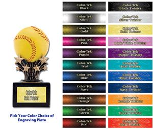 Hasty Award Shooting Star 6&quot; Softball Resin Trophy