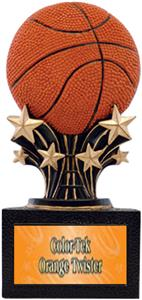 "Shooting Star 6"" Basketball Resin Trophies"
