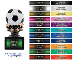 "Shooting Star 6"" Soccerball Resin Trophies"
