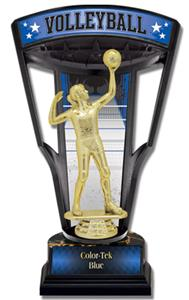"""Hasty Awards 9.25"""" Stadium Back Volleyball Trophy"""