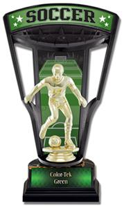 "Hasty Awards 9.25"" Stadium Back Soccer Trophy"