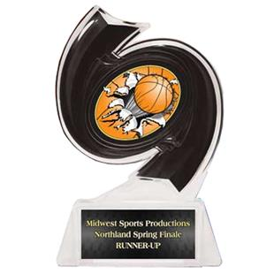 "Hasty Awards Basketball Hurricane Ice 6"" Trophy"