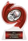 "Hasty Awards Baseball Hurricane Ice 6"" Trophy"