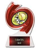 "Hasty Awards Softball Hurricane Ice 6"" Trophies"