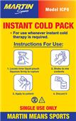 Martin Sports Instant Cold Packs - 16 Per Box