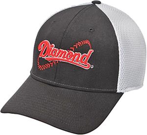 Diamond Baseball Stretch Fit Caps