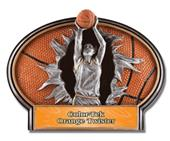 Hasty Award Basketball Burst-Out Resin Girl Trophy