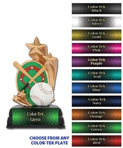 "6"" Baseball Sport Star Resin Trophies"
