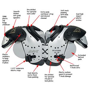 All-Star Equalizer JV Football Shoulder Pads