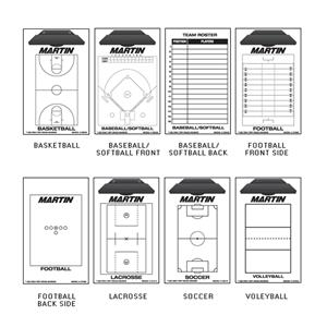 Martin Sports Easy Wipe Plastic Coaching Boards