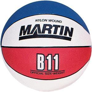 Martin Sports Rubber Red/White/Blue Basketballs