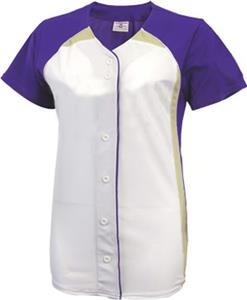 Teamwork Girls Pulse Faux Button Softball Jersey