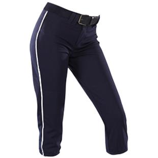 Teamwork Womens Low Rise Piped Softball Pants