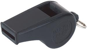 Martin Sports Large Black Plastic Whistles-Dozen