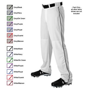 Alleson 605WLBY Youth Baseball Pants with Piping