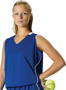 Alleson Girl's Sleeveless Softball Jerseys - CO