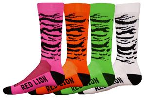 Red Lion Zebra Crew Socks - 4 Colors