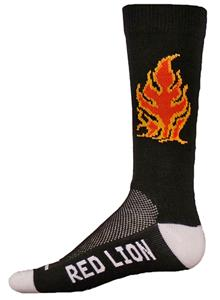 Red Lion Fire/Flame Crew Socks - Closeout